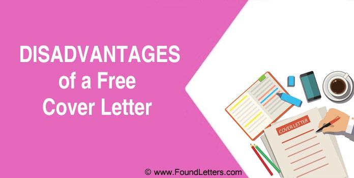 Disadvantages of a Cover Letter, CV Application letter
