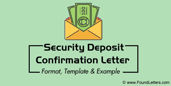 Security Deposit Confirmation Letter Format, Security Letter Template Example