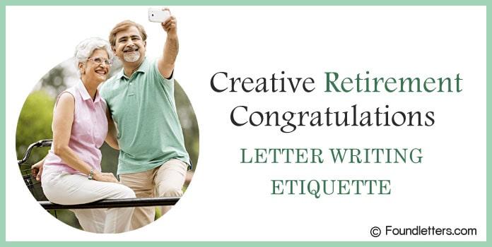 Retirement Congratulations Letter Writing Etiquette