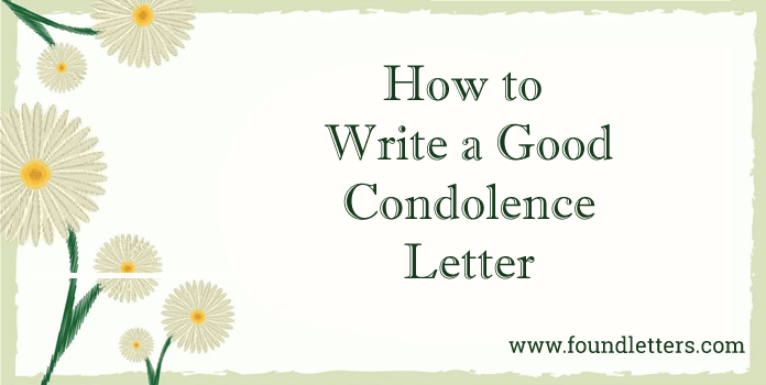 Condolence Letter Writing Tips, How to Write sympathy letter