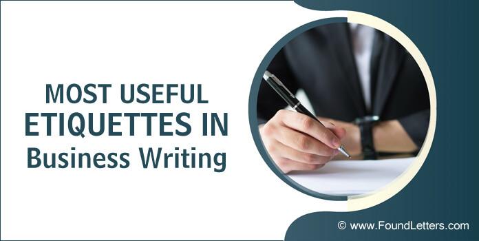 Etiquette Business Letters Writing etiquette rules