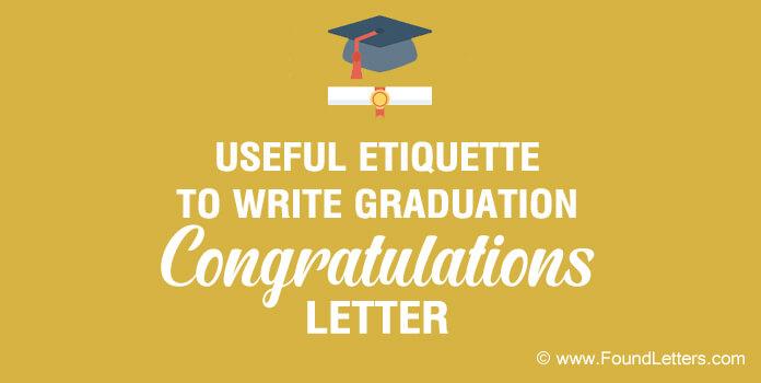 Graduation Congratulations Letter Etiquette