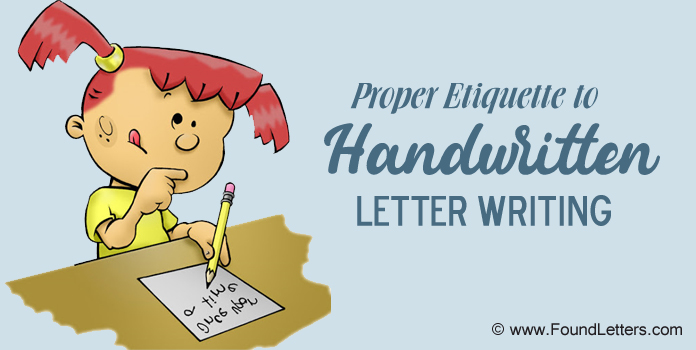 Handwritten Letter Etiquette Rules Handwritten tips