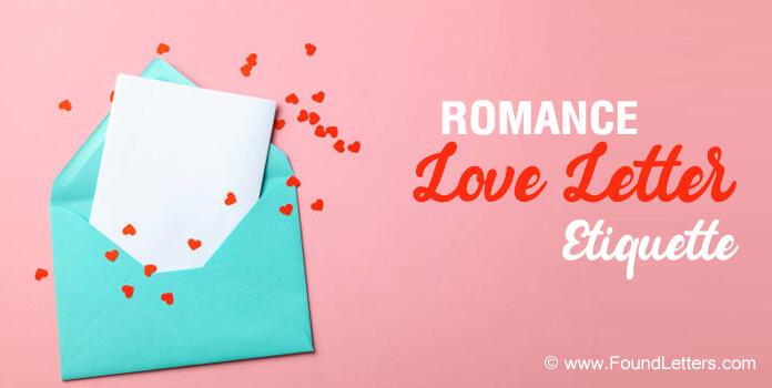 Romantic love letter etiquette, Love Letter tips, Ideas