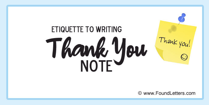 Thank You Note Etiquette Tips