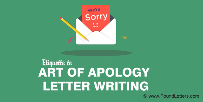Apology Etiquette, The Art of Apology Letter Writing