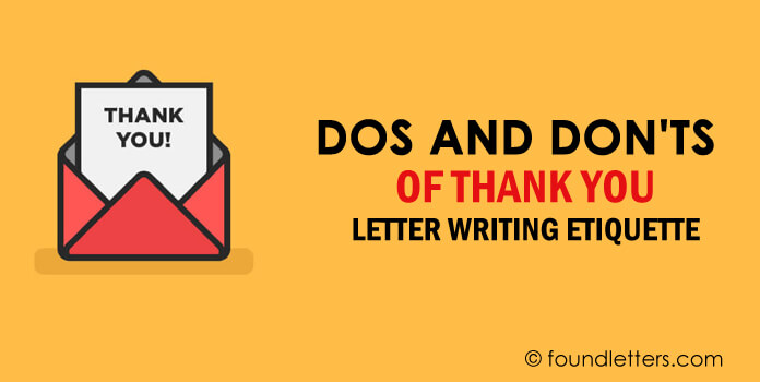 Thank You Letter Writing Etiquette, Dos and Don'ts